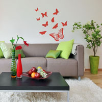 Butterfly Mix wall sticker
