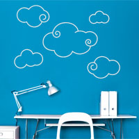 Columbus Clouds wall sticker