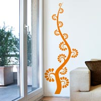 Fan Flowered Stalk wall sticker