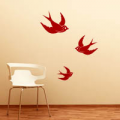 Inked Swallows wall sticker