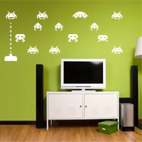 Invaders from Space! wall sticker