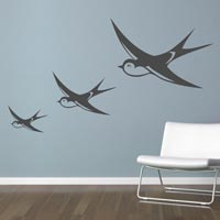 Flying Swallows wall sticker