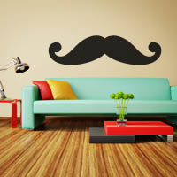Mustachio wall sticker
