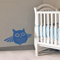 Mr Owl wall sticker