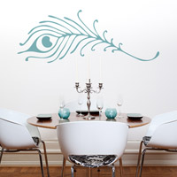 Peacock Feather wall sticker