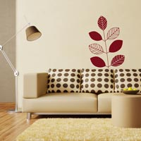 Retro Leaves wall sticker