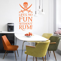 Rum Life wall sticker