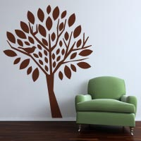 Big Tree, Small Bird wall sticker