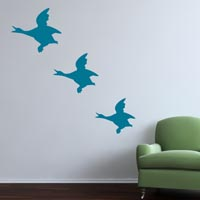 Vintage Flying Ducks wall sticker