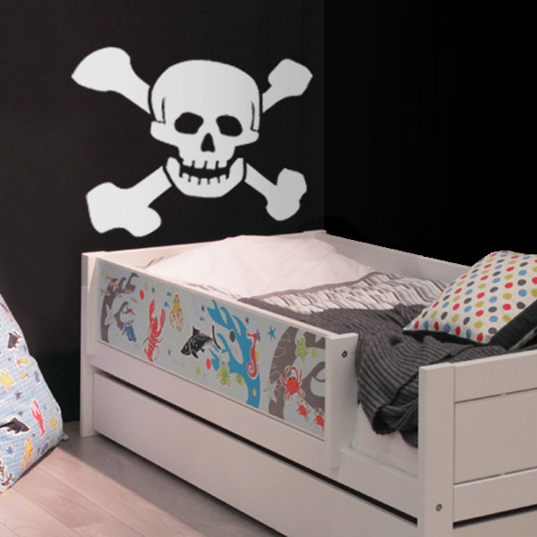 x1 Skull Bones wall sticker