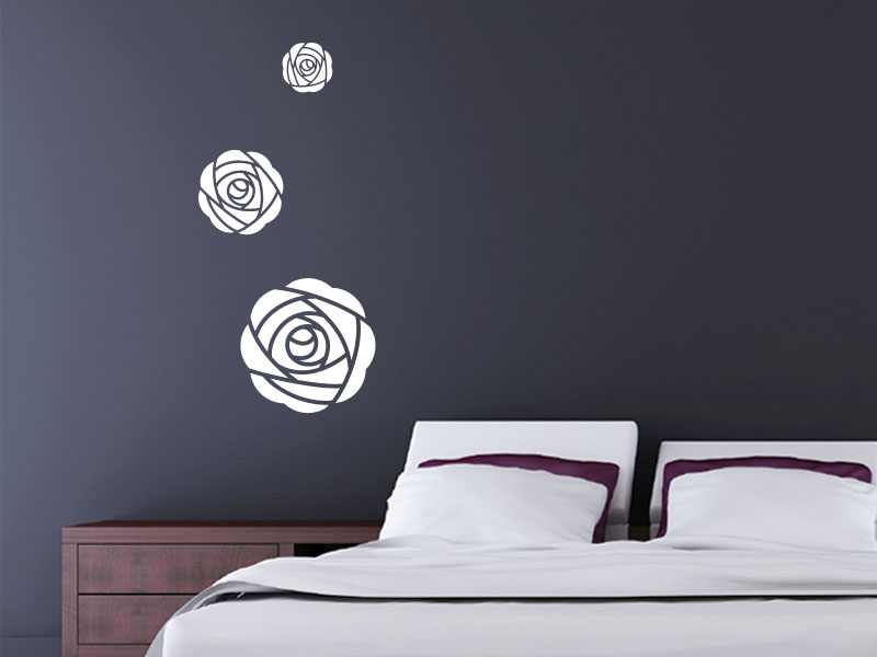 A striking set of Art Deco inspired roses