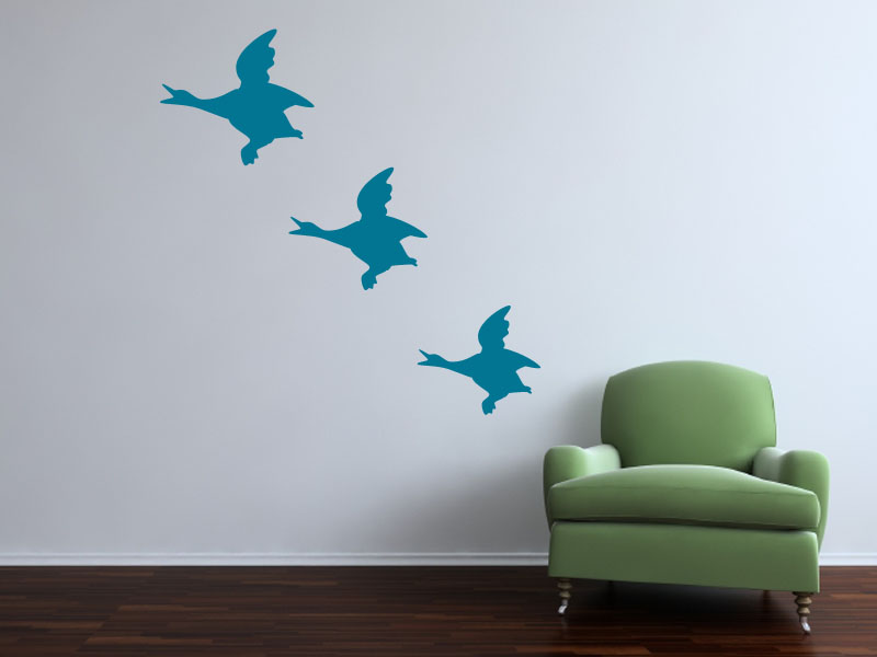 A flock of vintage flying ducks!